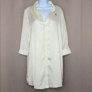 "Kensie Off White ""Hi"" Shirt Dress"